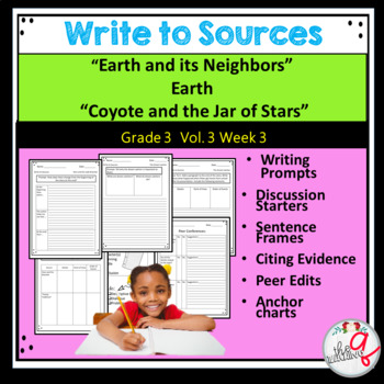 """Earth and its Neighbors"" Earth   ""Coyote and the Jar of Stars"" Write to Sources"