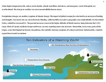 8th - 12th Grade - Earth's Climate Change - Environment Science