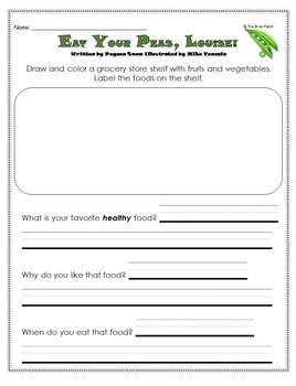 """""""Eat Your Peas, Louise"""" Guided Reading Program Activities"""