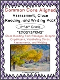 """Ecosystems"" CCSS Aligned 3rd-6th Close Reading Pack- w/As"