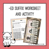-Ed Suffix Worksheet and Activity