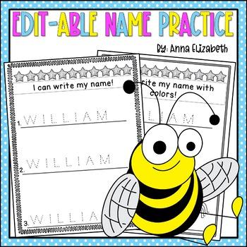 Editable Name Practice