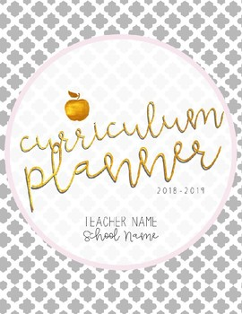 {Editable} 12 Month Curriculum Planner for 2018-2019 School Year