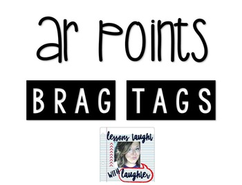 *Editable* AR Points Brag Tags