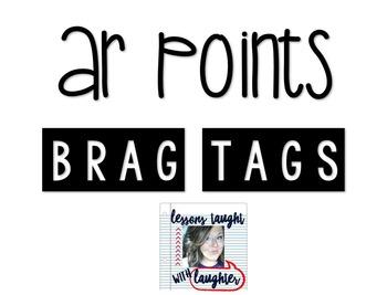 *Editable* AR Points Brag Tags