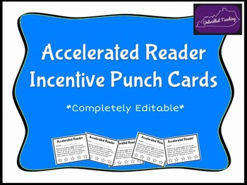 *Editable* Accelerated Reader Punch Card Incentive