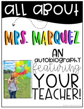 *Editable* All About Your Teacher Book