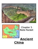 """Editable"" Ancient China Note Packet with Answers"