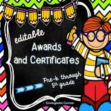 *Editable* Award Certificates and Diplomas {Kids Edition}