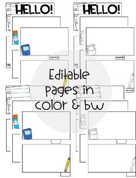 [Editable] Back to School Flipbooks