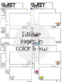 [Editable] Back to School Flipbooks *Donut Themed*