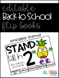 [Editable] Back to School Flipbooks *Pineapple Themed*