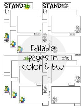 [Editable] Back to School Flipbooks *Pineapple Themed*