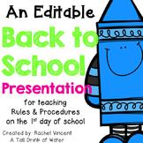 *Editable* Back to School Powerpoint Presentation {White Version}