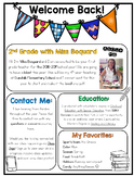 (Editable) Back to School Teacher Letter & Information Pages (in Color and B&W)
