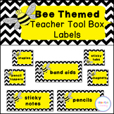 *Editable* Bee Theme Teacher Toolbox Labels