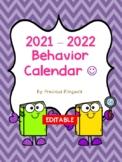 ** Editable ** Behavior Calendar 2018-2019! Dr. Seuss Inspired