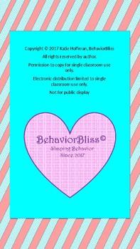 **Editable**- Behavior Intervention tracking Binder- Pink Stripe