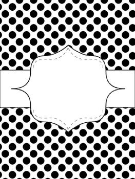 {Editable} Binder Covers! {Turquoise, Black, & Grey}