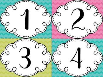 Number Cards {Editable}