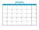 {Editable} Blank 2018 Monthly Calendars