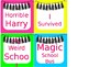 *Editable Book Basket Labels- Bright and Bold