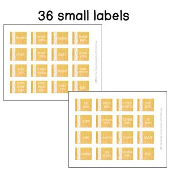 *Editable* Burlap & Lace Teacher Toolbox Labels