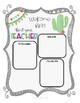 (Editable) Cactus Theme Meet The Teacher, About the Student