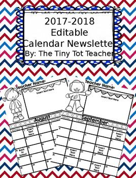 {Editable} Calendar/Newsletter