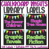 {Editable} Chalkboard Library Labels
