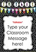 *Editable* Class Rules and Class Message Poster 'Bright Do