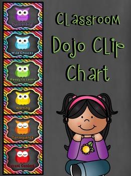 *Editable* Classroom Dojo Clip Chart - Owl Theme
