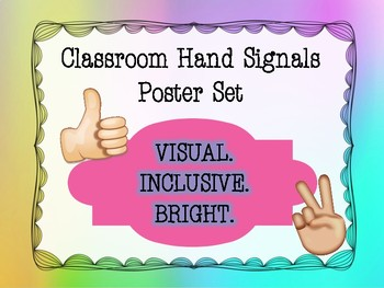 *FREEBIE* Classroom Hand Signals Poster Set
