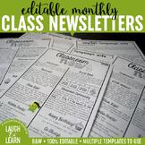 Classroom Newsletter Templates {Editable}