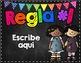 *Editable* Classroom REGLAS {Black & Brights Theme} SPANISH VERSION