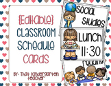 {Editable} Classroom Schedule Cards