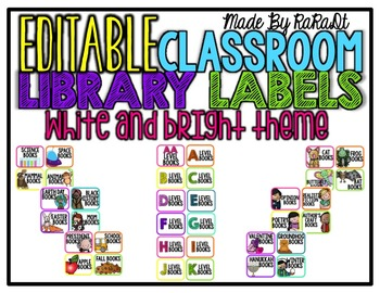 *Editable* Classroom Supply Labels {White & Bright Theme}