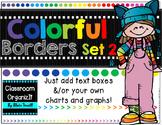 {Editable} Colorful Borders {Landscape} Set 2