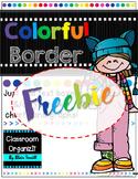 {Editable} Colorful Borders Portrait {Freebie}