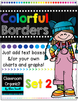 {Editable} Colorful Borders {Portrait} Set 2