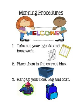 *Editable* Daily Procedures Posters
