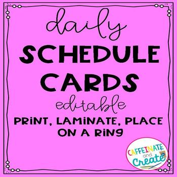 *Editable* Daily Schedule Cards