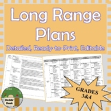 *Editable* Detailed Long Range Plans Gr.3-4 Ontario Curriculum, ALL SUBJ. FI too