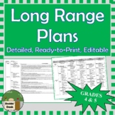 *Editable* Detailed Long Range Plans Gr.4/5 ONT Curriculum