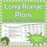 *Editable* Detailed Long Range Plans Gr.5/6 ONT Curriculum | ALL SUBJ., FI too