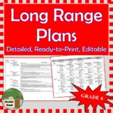 *Editable* Detailed Long Range Plans Gr6 ONT Curriculum | ALL SUBJECTS, FI incl