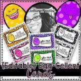 {Editable} Egg-cellent Cards