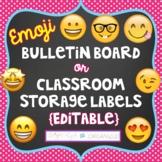 {Editable} 12 Emojis Bulletin Board Classroom Storage Labels Social Media Theme