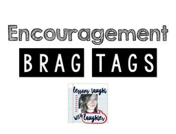 *Editable* Encouragement Brag Tags