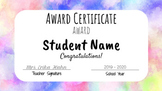 (Editable) End of Year Awards - Online Learning Friendly!